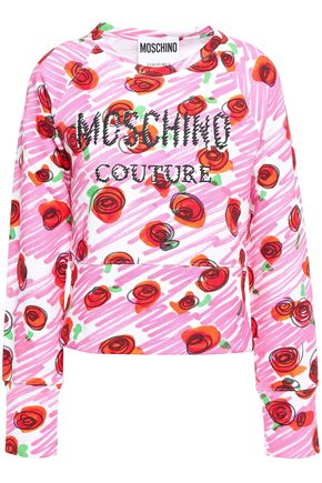 MOSCHINO Printed French cotton-terry sweatshirt
