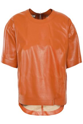 CEDRIC CHARLIER Faux leather top