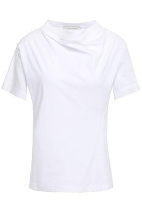 CEDRIC CHARLIER ドレープ入り コットンジャージー Tシャツ