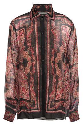 ALBERTA FERRETTI Printed silk-chiffon shirt