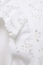 PHILOSOPHY di LORENZO SERAFINI ラッフル付き イギリス刺繍入り コットン ミニワンピース