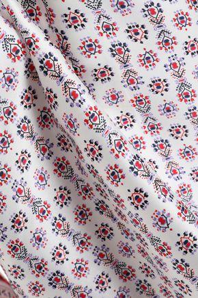 PHILOSOPHY di LORENZO SERAFINI Printed satin-twill blouse