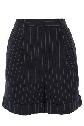 PHILOSOPHY di LORENZO SERAFINI Pinstriped cotton and wool-blend canvas shorts