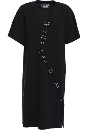 BOUTIQUE MOSCHINO Barbell-embellished stretch-crepe dress
