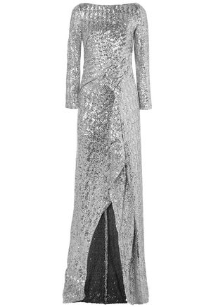 ROLAND MOURET Sarandon sequined tulle gown