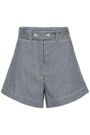 CEDRIC CHARLIER Striped denim shorts