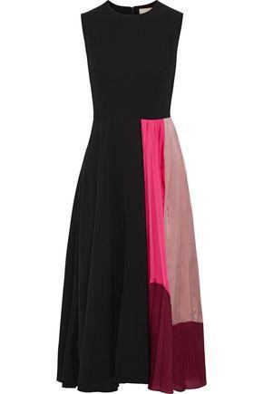 ROKSANDA Zahida color-block satin-paneled crepe midi dress