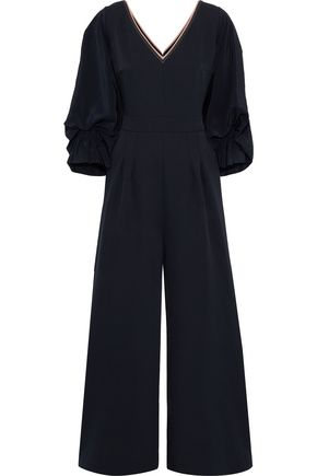 ROKSANDA Lila gathered silk-blend crepe wide-leg jumpsuit