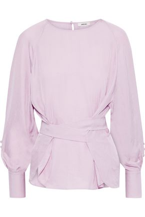 JASON WU Button-detailed crinkled twill blouse