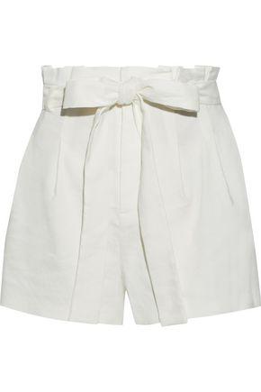 ALICE + OLIVIA Laurine belted linen-blend shorts