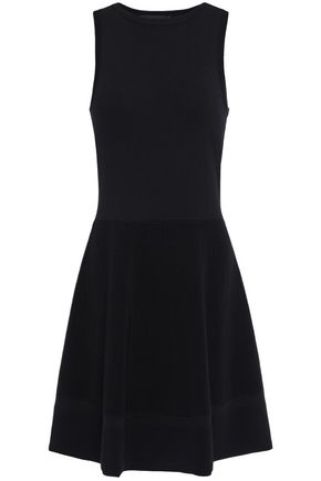 BOUTIQUE MOSCHINO Flared stretch-knit dress