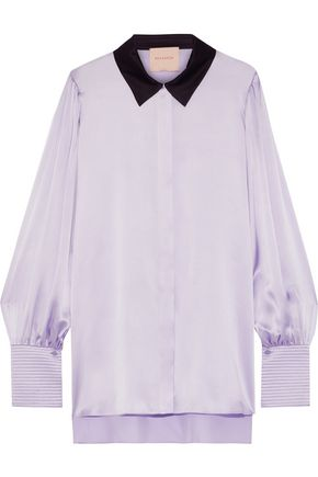 ROKSANDA Anthea silk-satin shirt