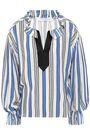 PHILOSOPHY di LORENZO SERAFINI Ruffled jacquard blouse