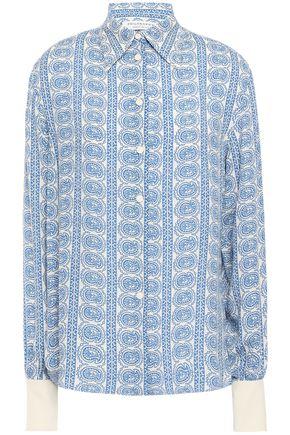 PHILOSOPHY di LORENZO SERAFINI قميص من الكريب المطبع برسومات