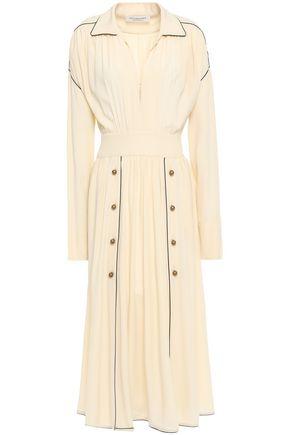 PHILOSOPHY di LORENZO SERAFINI Button-detailed crepe de chine midi dress