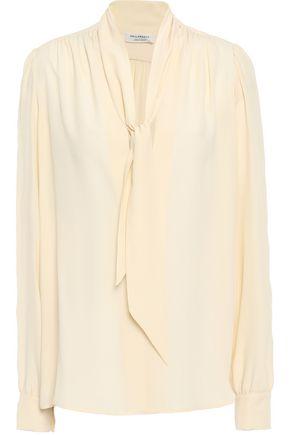 PHILOSOPHY di LORENZO SERAFINI Tie-neck crepe de chine blouse