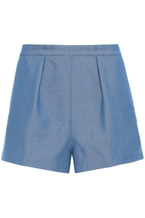 PHILOSOPHY di LORENZO SERAFINI Pleated denim shorts