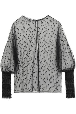 PHILOSOPHY di LORENZO SERAFINI Embroidered tulle blouse
