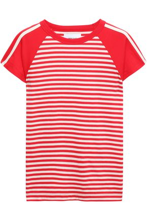 CURRENT/ELLIOTT Striped cotton-jersey T-shirt