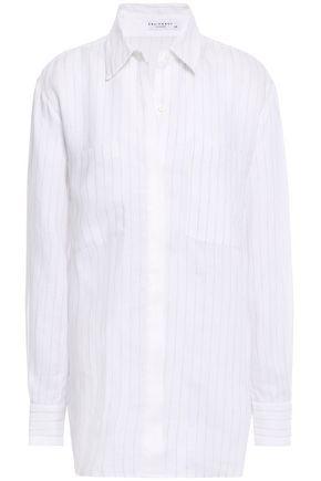 EQUIPMENT Aceline pinstriped linen shirt