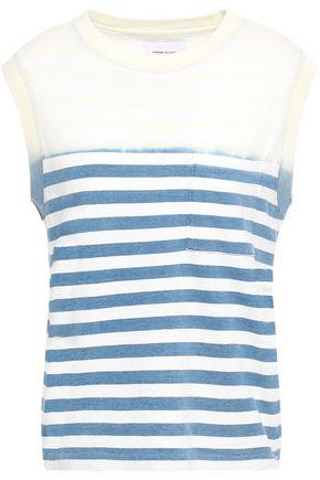 CURRENT/ELLIOTT Striped cotton-jersey top