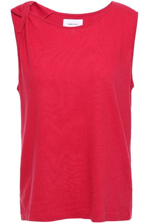CURRENT/ELLIOTT The Tied Up twisted slub linen and cotton-blend tank