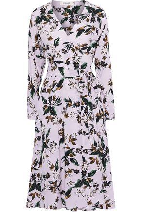 """DIANE VON FURSTENBERG فستان ملتف """"إيل"""" من قماش كريب دي شين الحريري المطبع بالورود"""