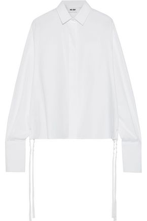 EACH X OTHER Gathered cotton-poplin shirt