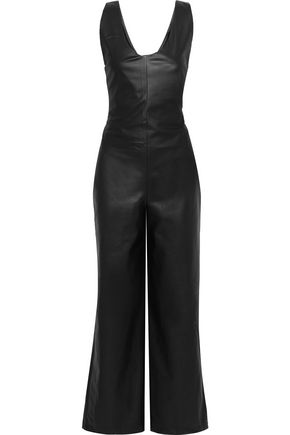 EACH X OTHER Faux leather wide-leg jumpsuit
