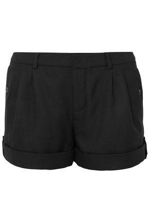 SAINT LAURENT Pleated wool shorts