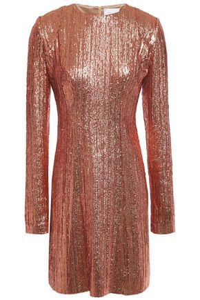 GALVAN  London Dusk embellished metallic tulle mini dress