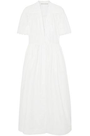 STELLA McCARTNEY فستان متوسط الطول من قماش البوبلين القطني المطرز