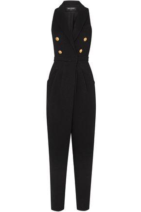 BALMAIN Wool-blend crepe jumpsuit