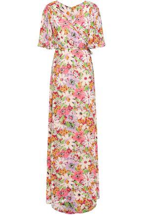 byTIMO Floral-print fil coupé maxi wrap dress