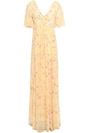 byTIMO Gathered floral-print fil coupé woven maxi dress