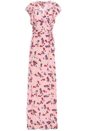 byTIMO Floral-print crepe maxi wrap dress