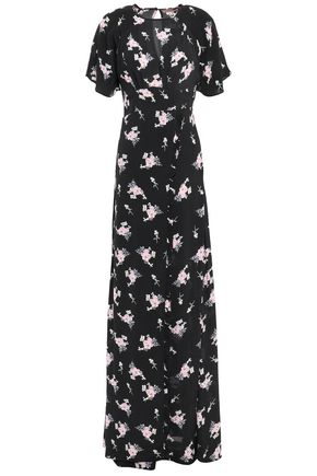 byTIMO Wrap-effect ruffled floral[-print crepe maxi dress