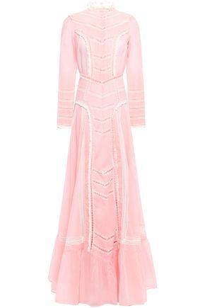 byTIMO Crochet-trimmed cotton-gauze maxi dress