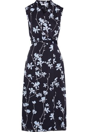 EQUIPMENT Femma wrap-effect floral-print chiffon midi dress