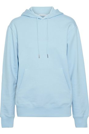 HELMUT LANG Alien embroidered French cotton-terry hoodie