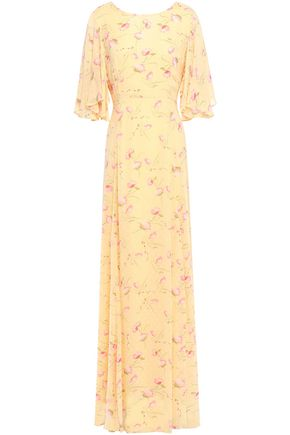 byTIMO Ruffled floral-print fil coupé woven maxi dress