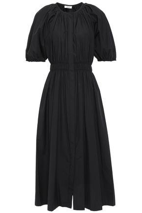 JASON WU Gathered stretch cotton-poplin midi dress