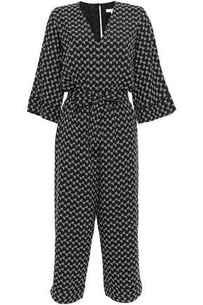 JOIE Cropped printed crepe jumpsuit