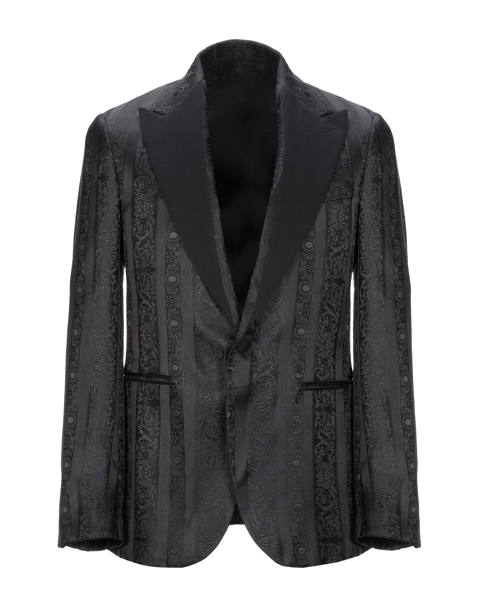 ヴェルサーチ コレクション VERSACE COLLECTION メンズ テーラード ジャケット アウター ブラック