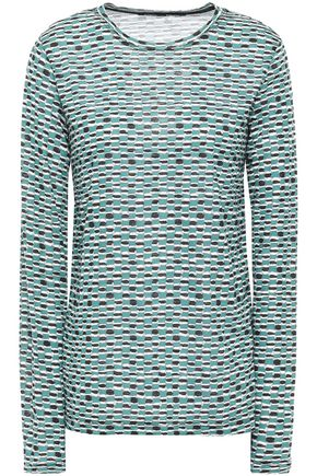 PROENZA SCHOULER Printed cotton slub-jersey top