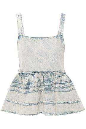 PROENZA SCHOULER Flared denim top