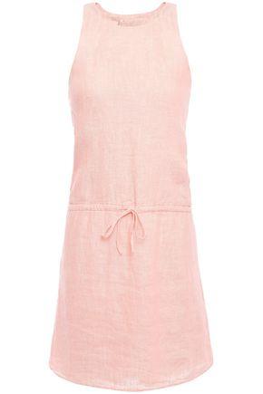 JOIE Cutout mélange linen mini dress