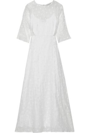 MANSUR GAVRIEL Embroidered linen-blend gauze maxi dress