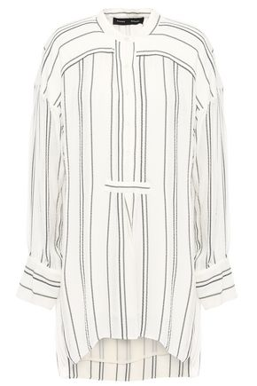 PROENZA SCHOULER Distressed striped crepe tunic