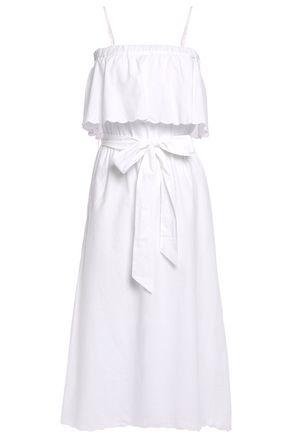 JOIE Rindinya belted layered cotton-poplin midi dress